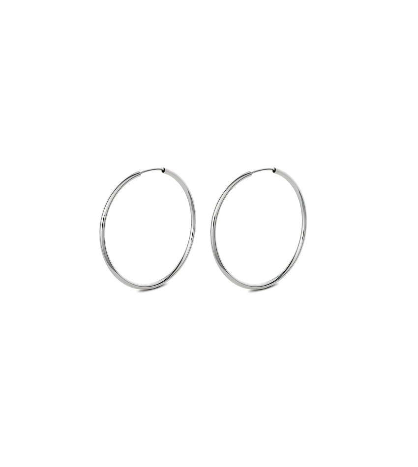 Nomad Hoops Silver (50 mm)