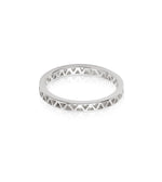 ARTISAN STAMPED STACKING RING SILVER