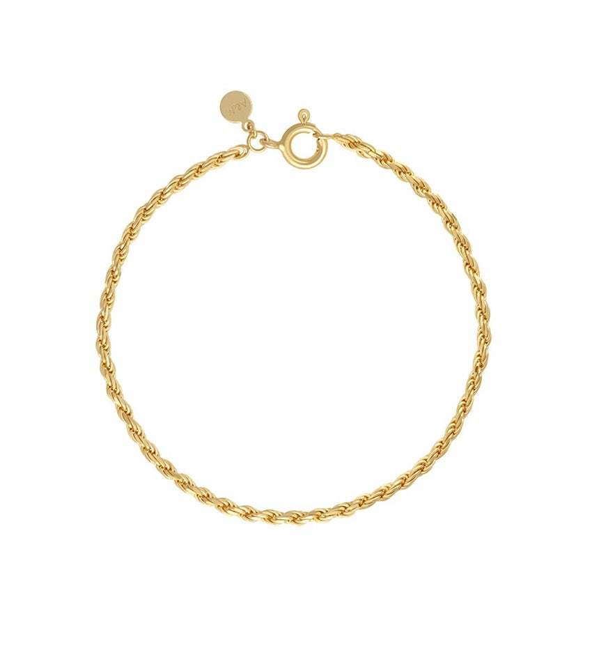 Rope Chain Bracelet Gold
