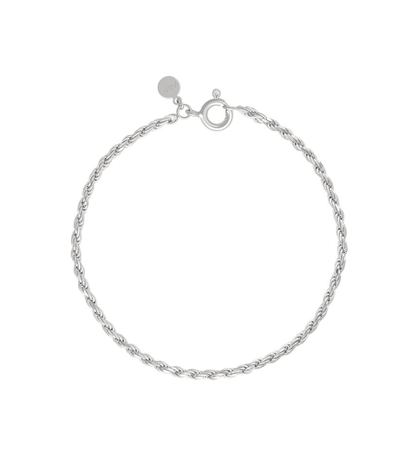 Rope Chain Bracelet Silver