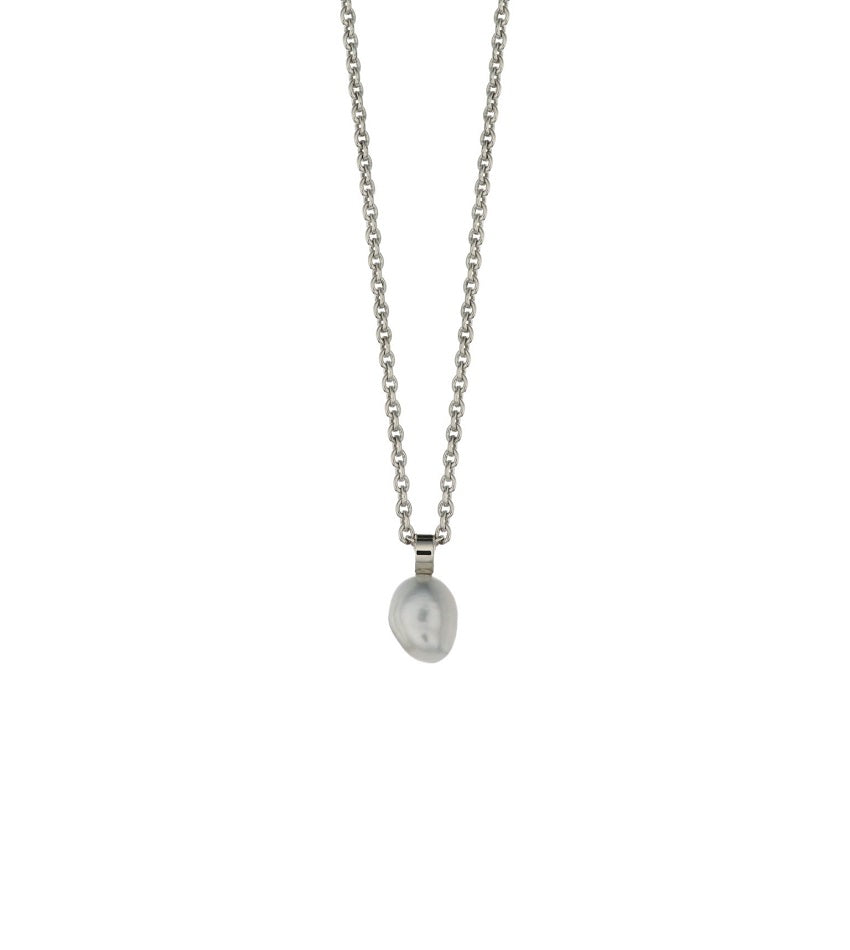 South Sea Keshi White Pearl Necklace