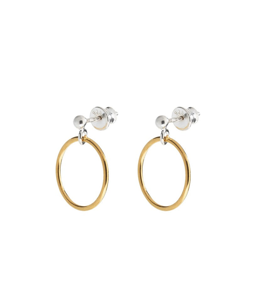 Small Circle Earrings Gold