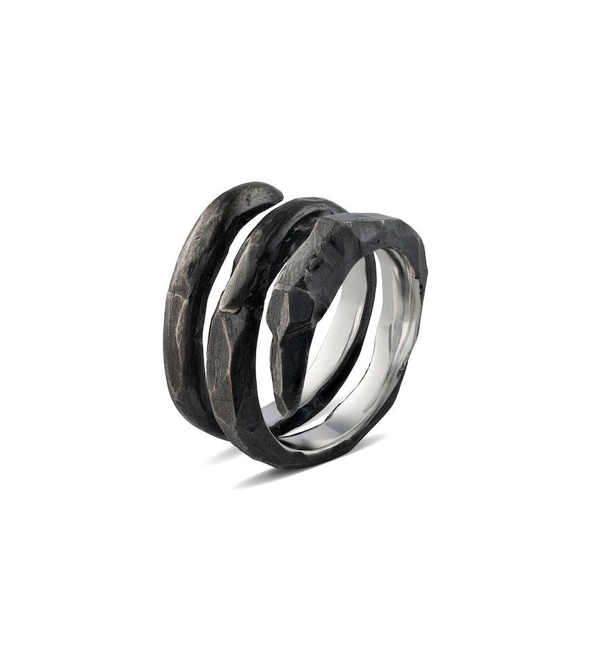 Men's Spiral Claw Ring