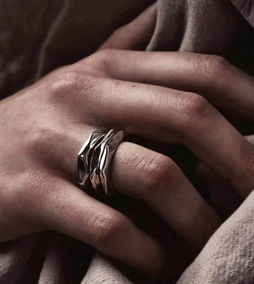Man's Pinky Stacker Ring Silver