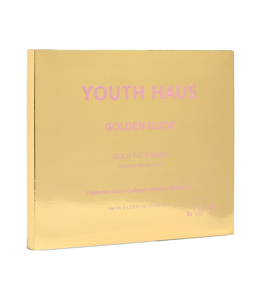 Youth Haus 24k Golden Glow™ Face Mask (5 pack)