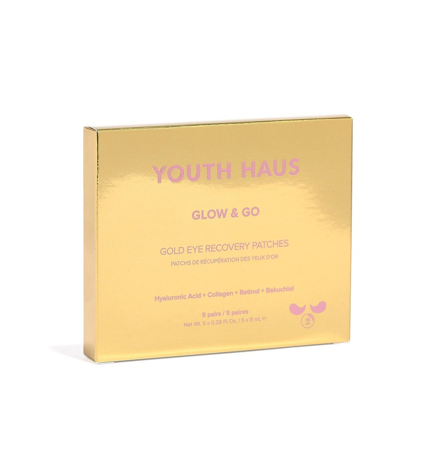 Youth Haus 24k Glow & Go™ Eye Patches (5 pack)