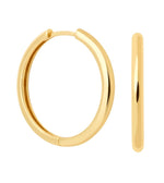 Simple Hinge Hoops Gold