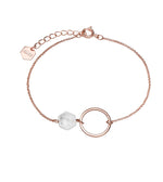 Idylle Open Circle Marble Hexagon Chain Bracelet