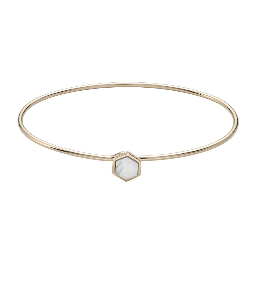 Idylle Marble Hexagon Bangle Bracelet