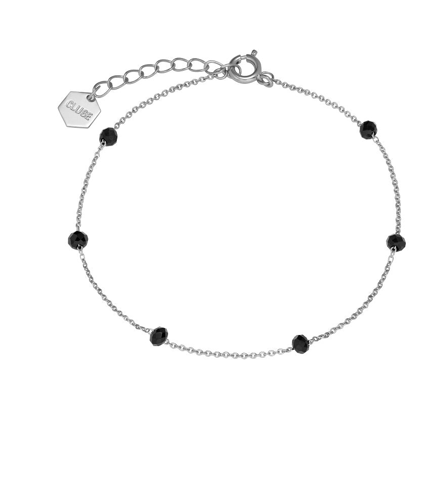 Essentielle Black Crystals Chain Bracelet