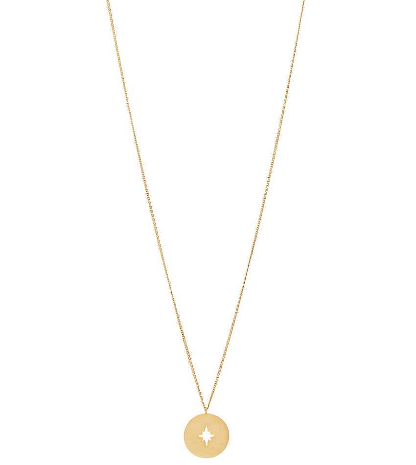 Compass 0102 Necklace Gold