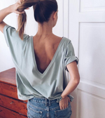 DEEP V-BACK Top