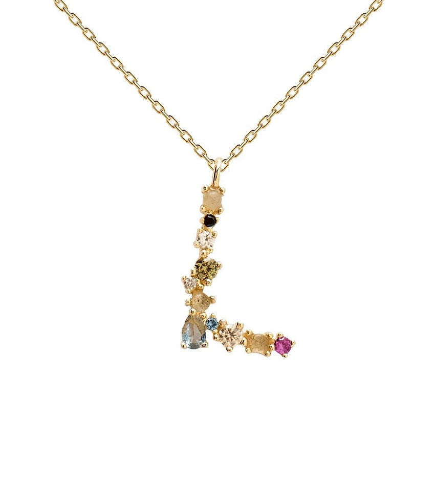 L Necklace Gold