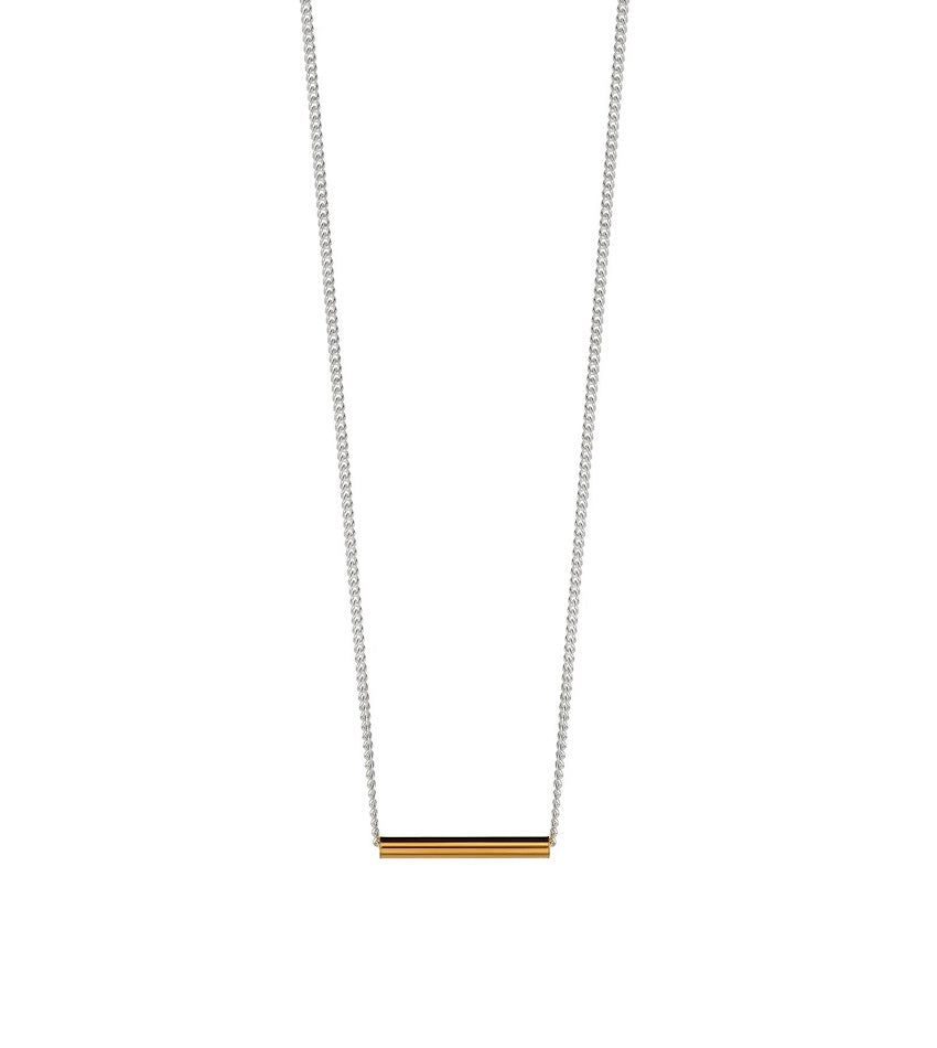 Pipe Necklace Gold