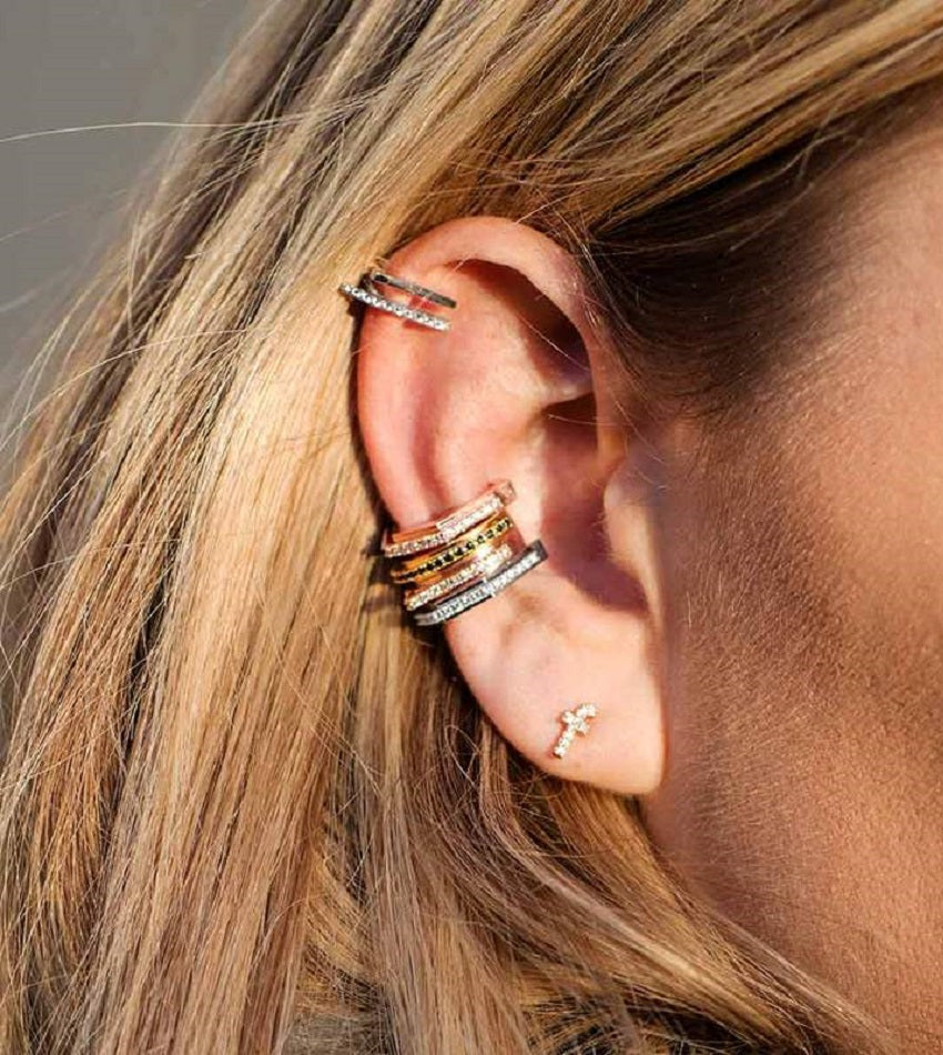 Fitzgerald Circle 2.0 Ear Cuff Rose Gold