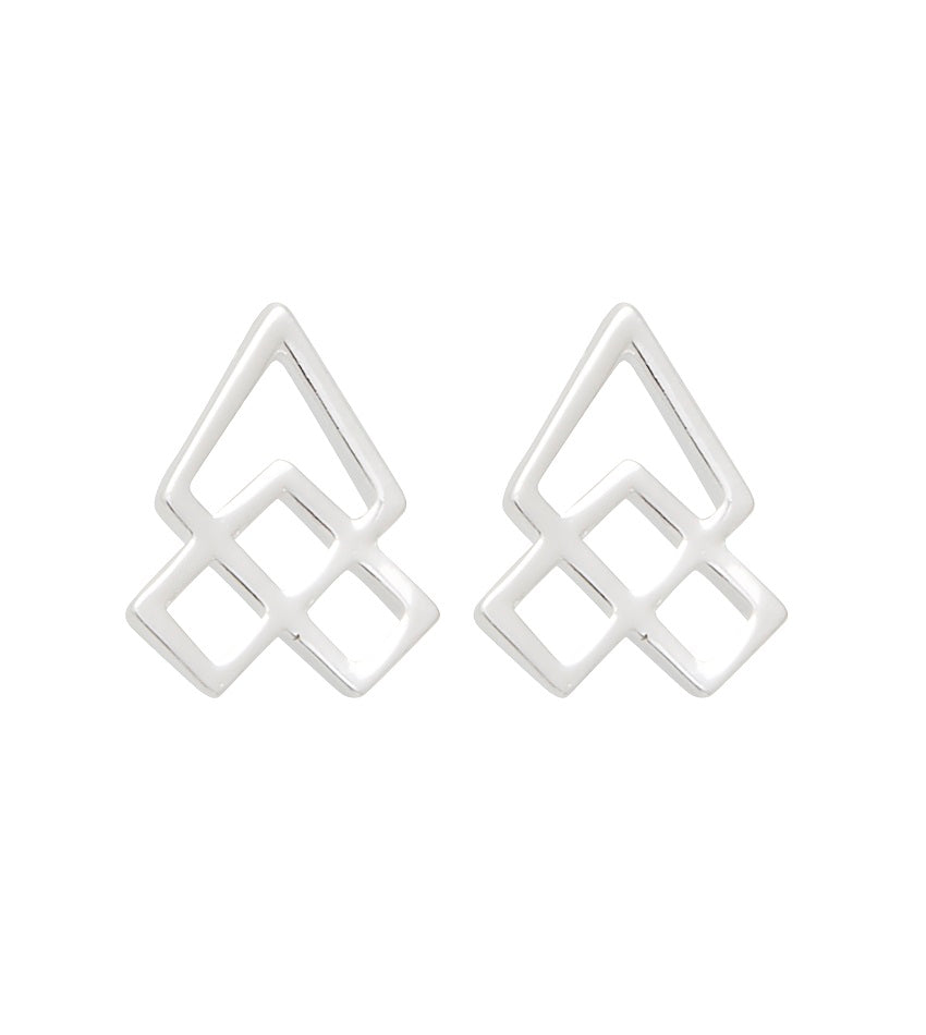 Hive 0301 Earring Silver