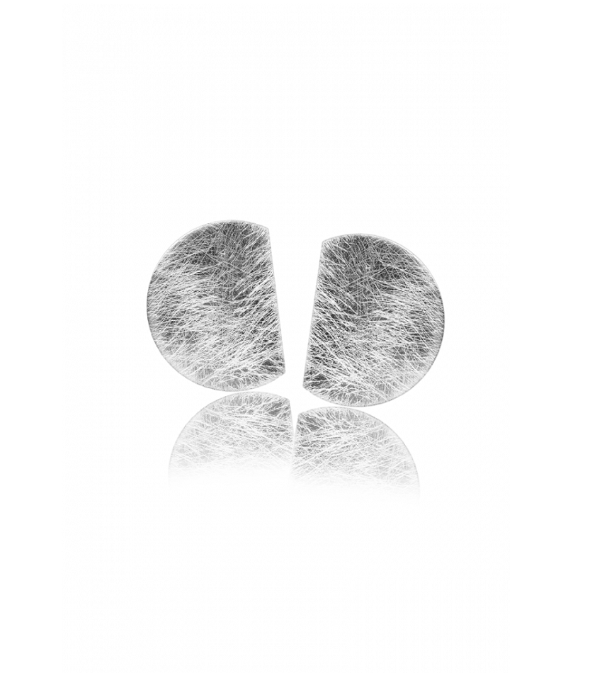 MOON | TWIN Earrings Silver