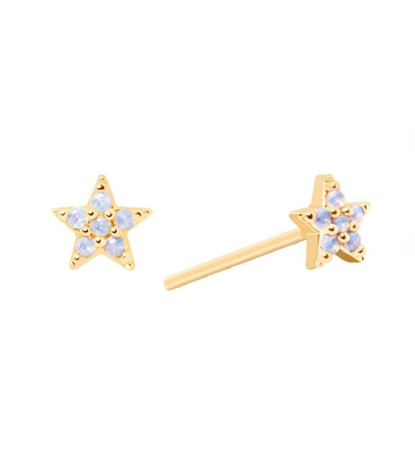 Mystic Star Stud Earrings Gold