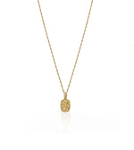 Square Angel Gold Necklace
