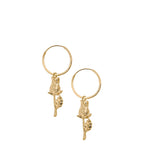 Rose Earrings Gold