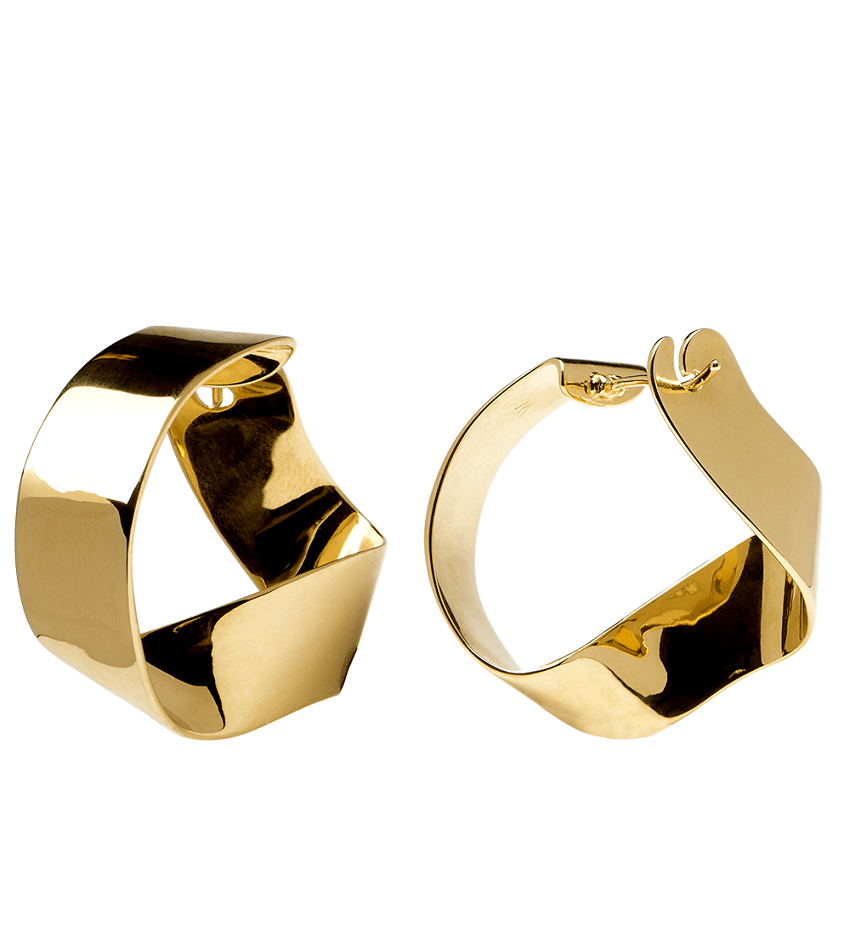 GRAVITY Earrings Gold