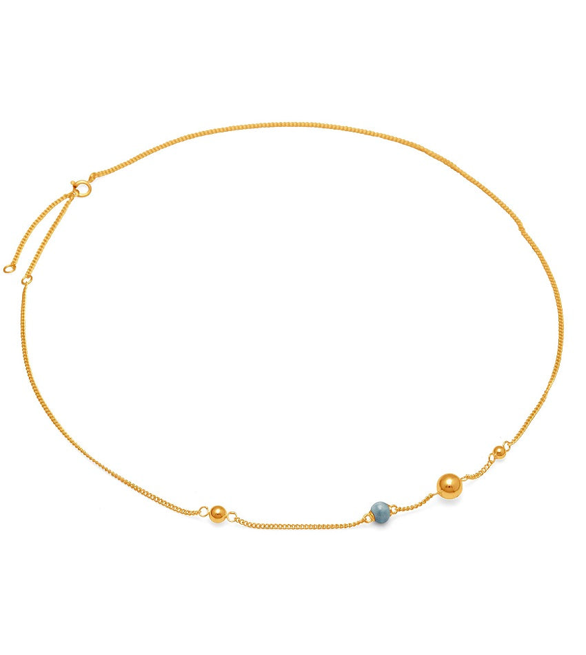 Pearl on Strings 0102 Necklace Gold