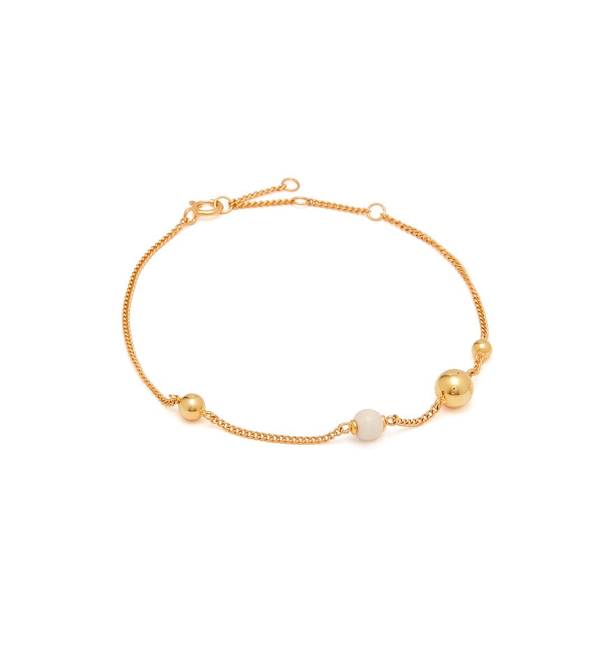 Pearl On Strings 0203 Bracelet Gold