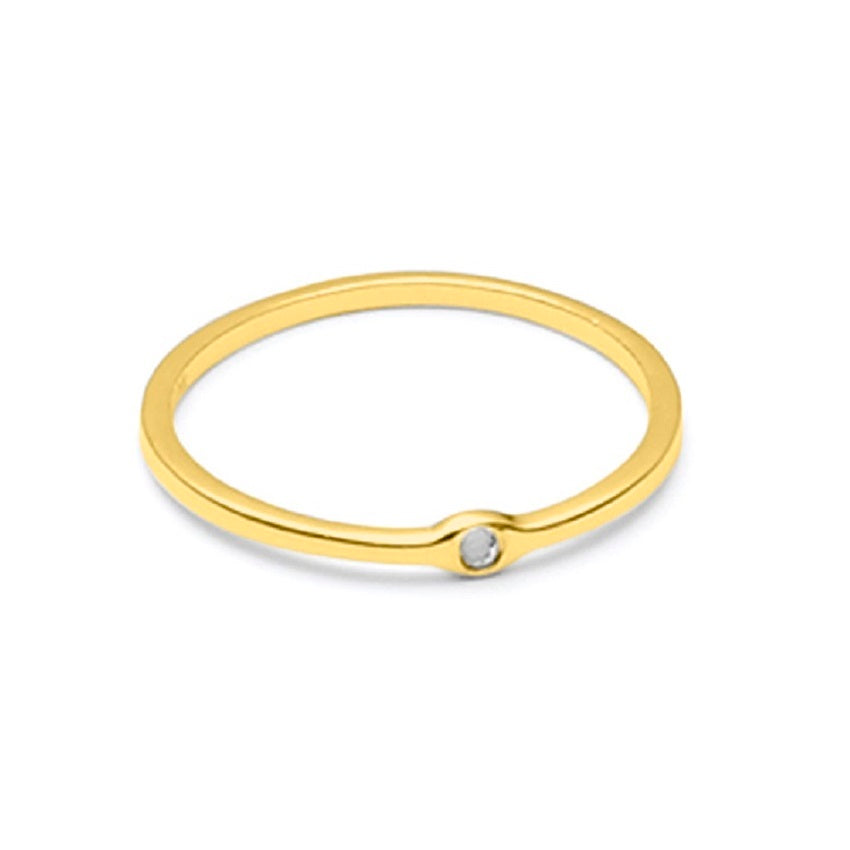 Raw Diamond 0404 Ring Gold