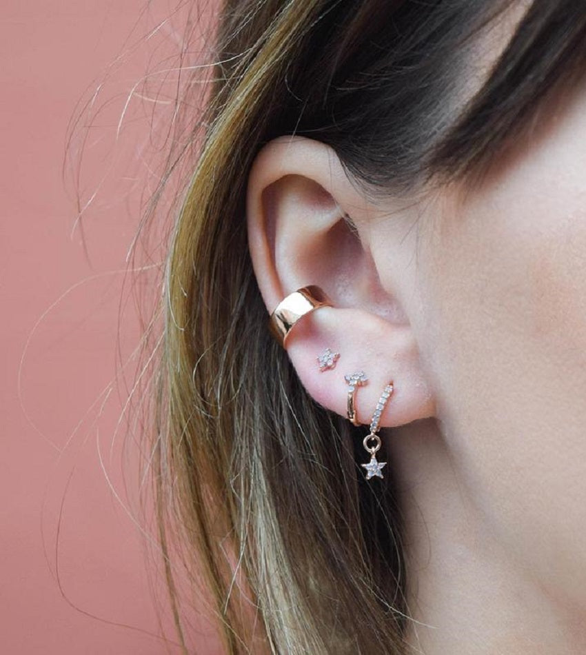 Boyfriend Simple Ear Cuff Rose Gold