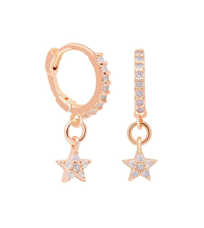 Mystic Star Huggies Rose Gold