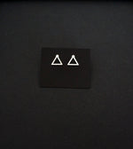 Minimalist triangle shape earrings stainless steel