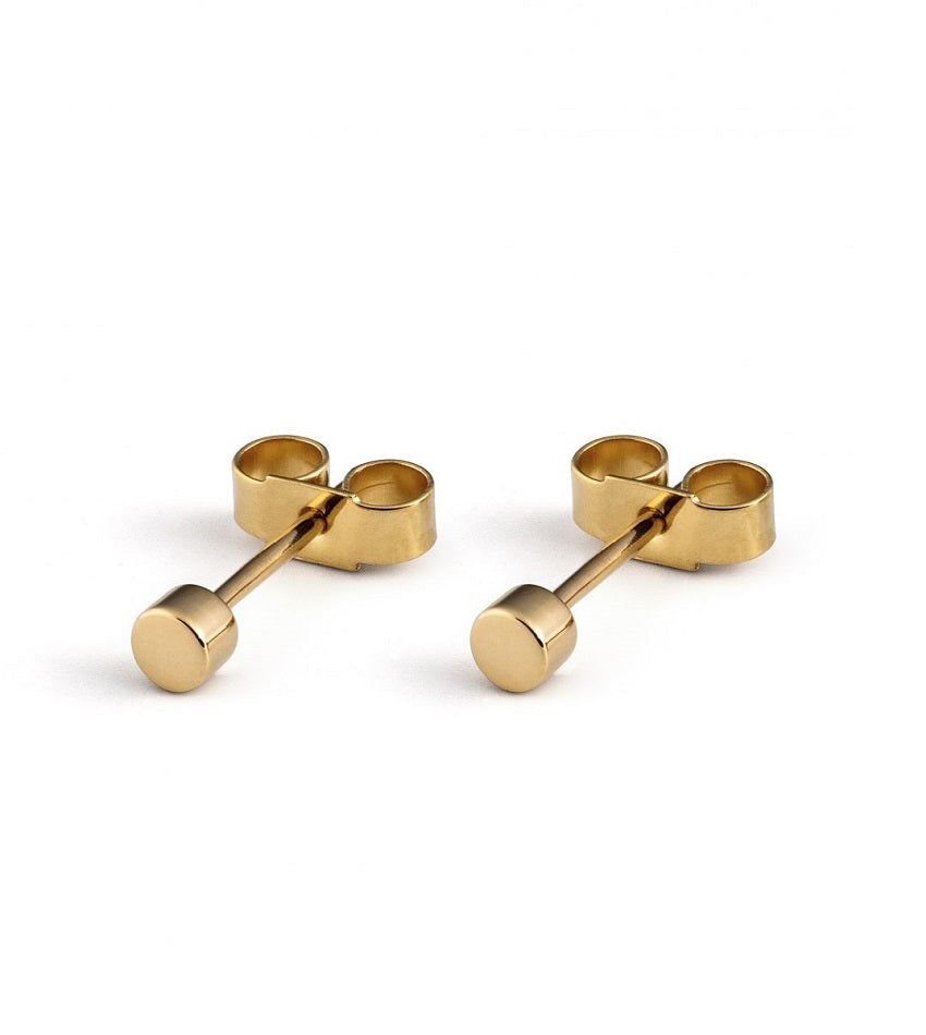 Regular Dot Earrings - 18K Gold