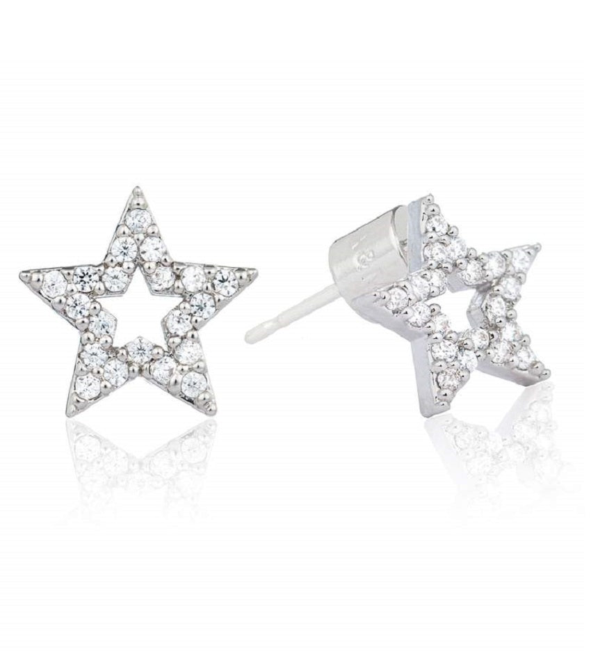 New Tricks Star Stud Earrings Silver