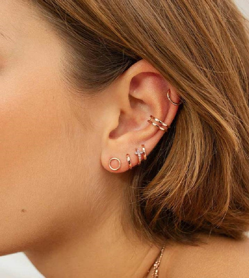 Simple Wishbone Ear Cuff Rose Gold