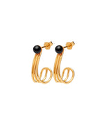 Supernova 0303 Earrings Gold