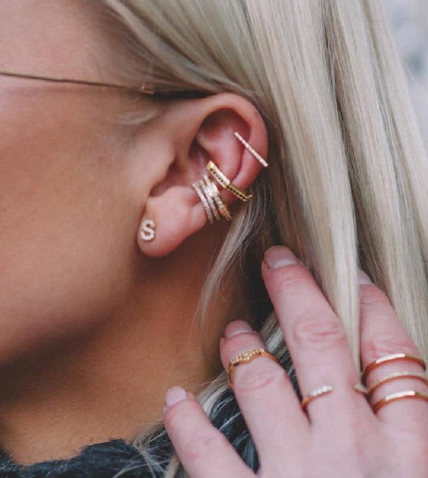 Wishbone Ear Cuff Gold