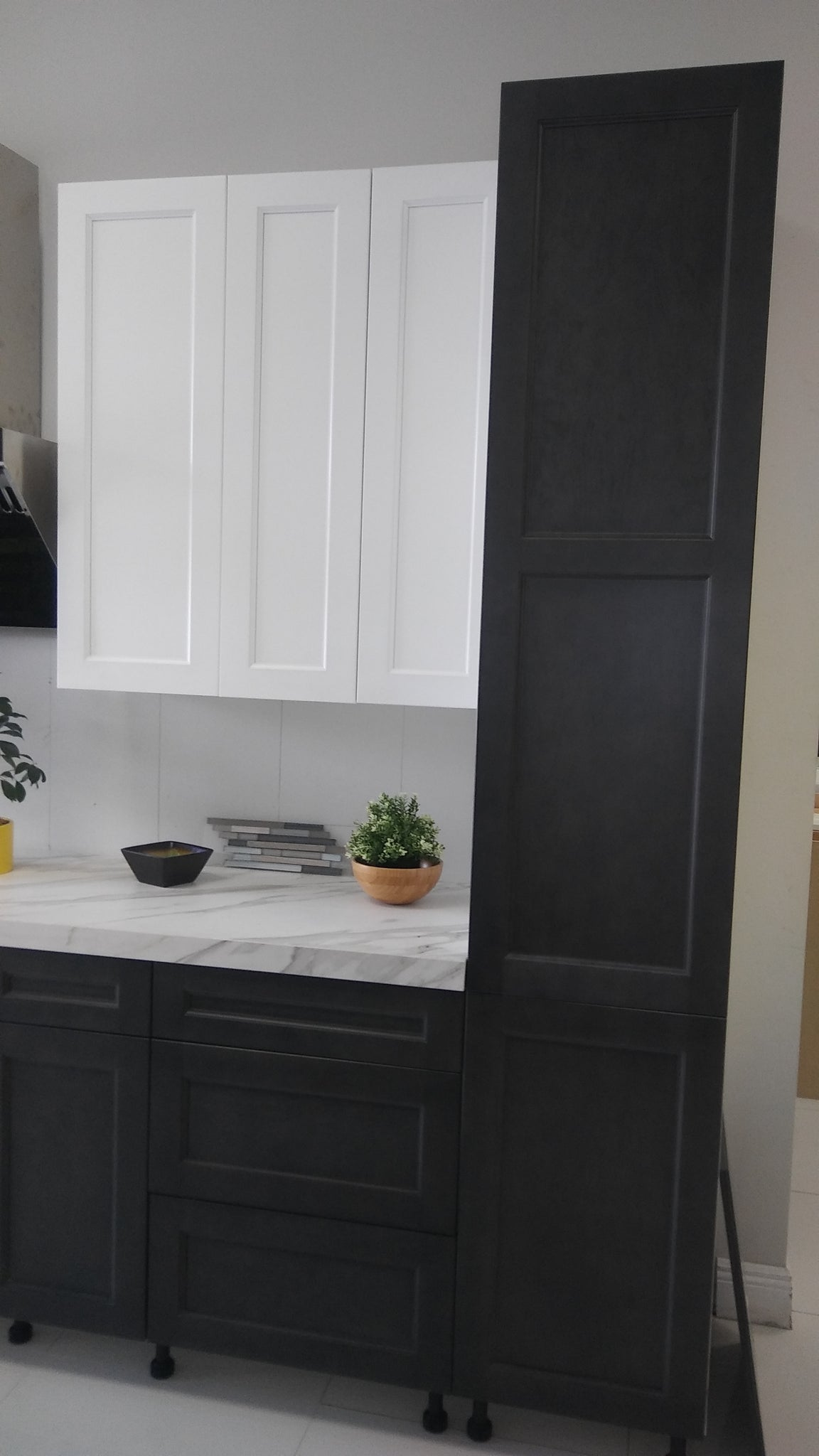 frameless shaker style dove white and dusk gray cabinets cabinet sales center