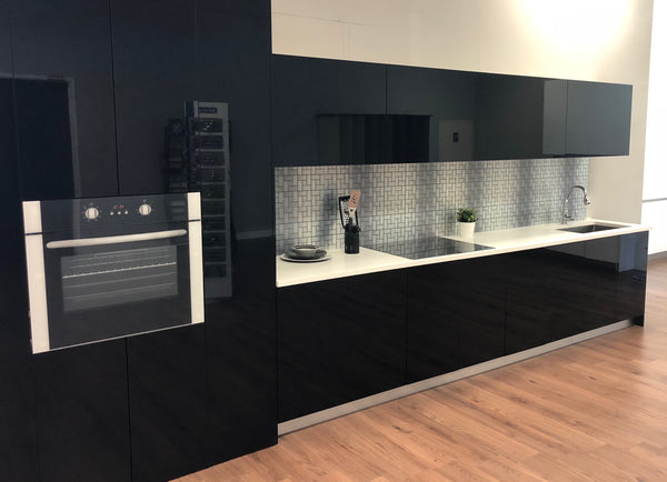 High Gloss Black Euro Style Modern Kitchen
