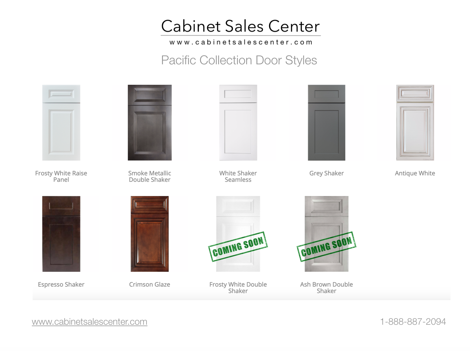 Pacific Collection RTA Cabinets cabinet sales center