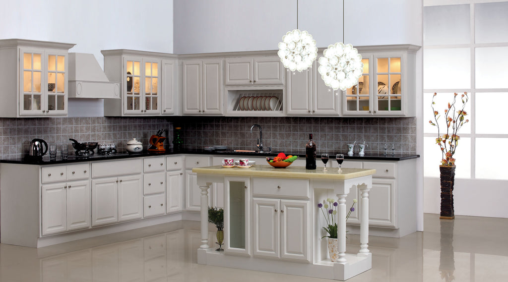 traditional classic white cabinet sales center