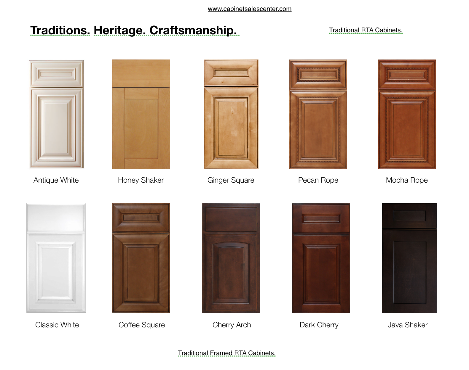 Traditional RTA cabinets styles