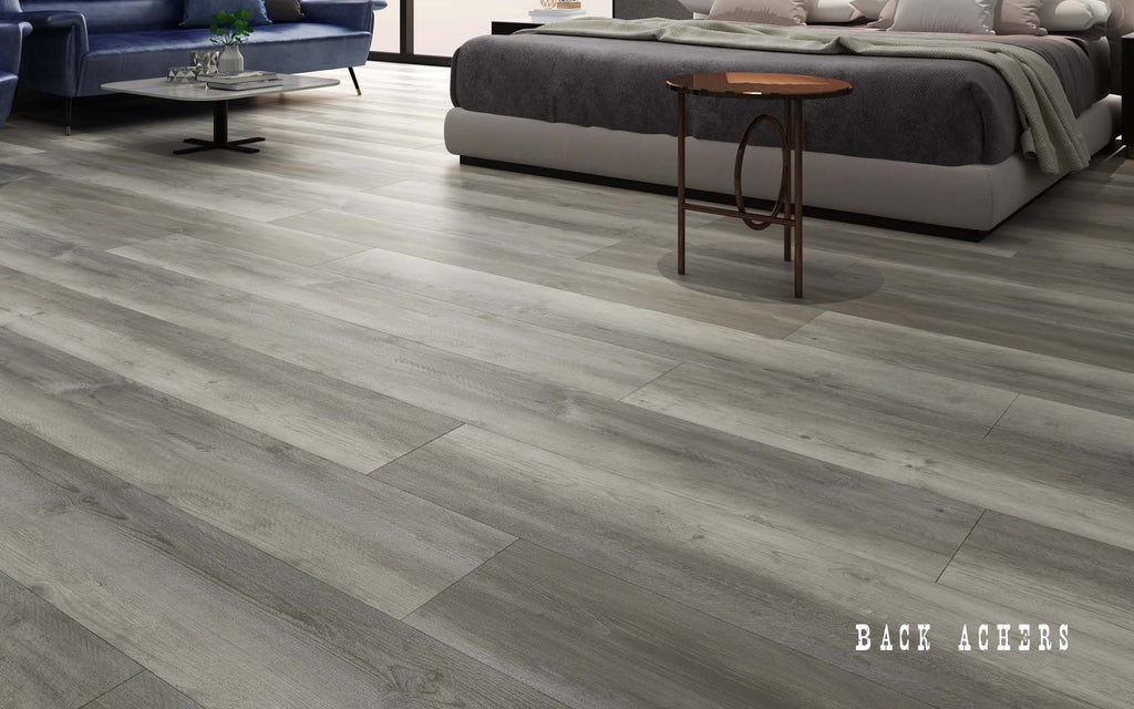 Rigid Core Wide Plank Waterproof Vinyl Flooring, Back Achers - Cabinet Sales Center