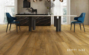 Rigid Core Wide Plank Waterproof Vinyl Flooring, Knotty Barn - Cabinet Sales Center
