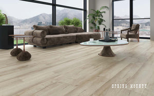 Rigid Core Wide Plank Waterproof Vinyl Flooring, Spring Mounty - Cabinet Sales Center