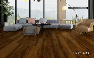 Rigid Core Wide Plank Waterproof Vinyl Flooring, Night Bear - Cabinet Sales Center