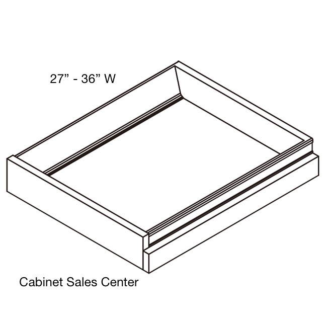 "Roll Out Tray sizes 27""-36"" - Modern Line"