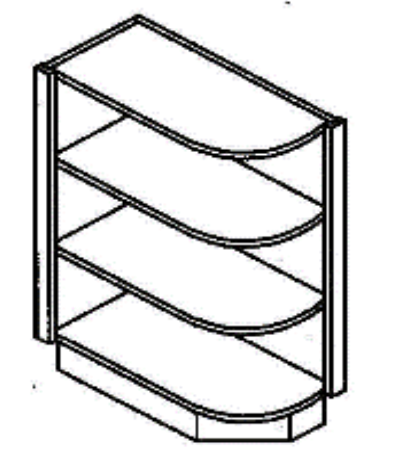 Base End Shelf - Traditional Line