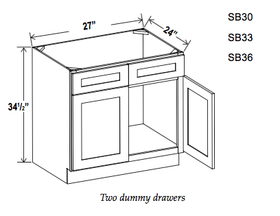 Sink Bases - Builder Line - Cabinet Sales Center
