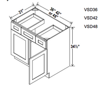 Vanity Combo Bases - Builder Line - Cabinet Sales Center