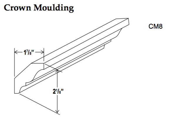 Crown Moulding-CM8 - Builder Line - Cabinet Sales Center